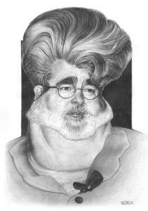 George Lucas caricature von Eder Galdino