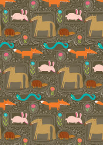 Horse Rabbit Fox Pattern