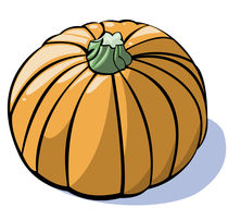 Vegetables series: pumpkin by William Rossin