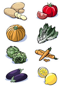 Eight vegetables - Colors by William Rossin