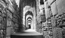 Linlithgow Palace Interior B/W by Buster Brown Photography