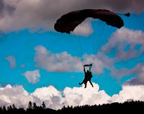 Skydiver Silhouette by Buster Brown Photography