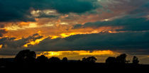 Sunset over Stirlingshire, Scotland by Buster Brown Photography