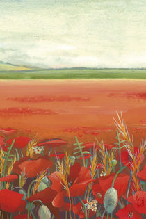 Poppy field by Katia Levkova