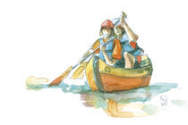 Canoeing by Katia Levkova