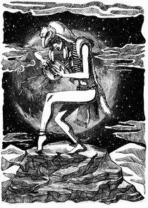 Moonligt shaman by Irina  Ganina