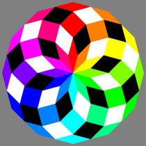 dodecagon crazy colors by Chandler Klebs