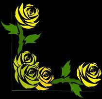 Corner Roses - yellow by yellowroseoftexas
