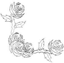 Corner Roses - outline von yellowroseoftexas