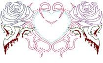 Tribal Heart & Bloody Roses II von yellowroseoftexas