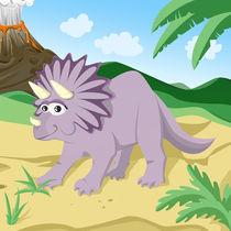 Dinosaurus Triceratops von Michaela Heimlich