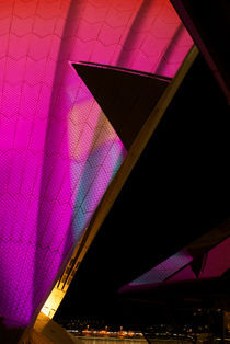 Sydney Opera House Sails at Vivid Sydney by Tim Leavy