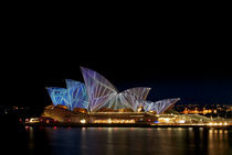 Sydney Opera House at Vivid Sydney festival by Tim Leavy
