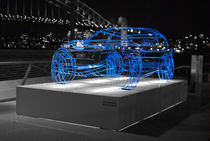Range Rover Evoke Sculpture at Vivid Sydney festival von Tim Leavy
