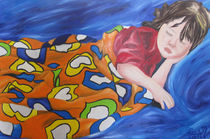 Jaquelline Sophia, sleeping on top of a Van Gogh by Raul Raziel
