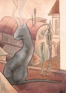 smoky cat von Ginevra Ballati