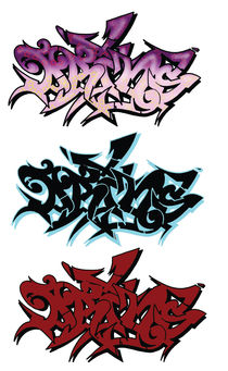 Prins graffiti outlines by Benny  Storm