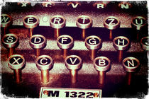 Enigma - Typewriter III von Sybille Sterk