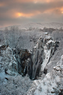 Winter at Plitvice lakes by Ivan Coric
