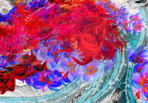 Magnetic Violet Flowers Band by jaartwrk
