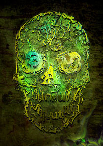 Skull green by alexey-shpagin