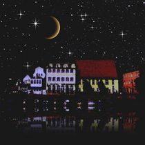 Night sky above the village. von Bernd Vagt