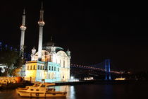 Ortakoy Mosque and Bosphorus Bridge by Evren Kalinbacak