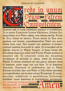 Symbolum Nicaenum by Alaister Lim