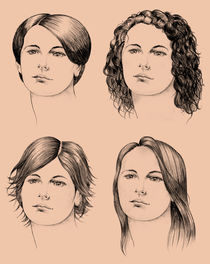 Four haircuts by William Rossin