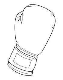Black and white boxing glove von William Rossin