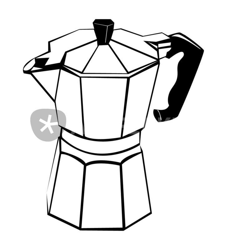 Coffee Pot Graphic Illustration Art Prints And Posters By William
