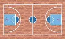 Basketball court von William Rossin
