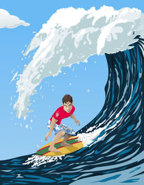 Big wave surfer by William Rossin