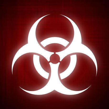 quotbiohazard symbol on red backgroundquot digital art art