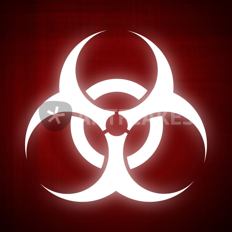 Biohazard Symbol On Red Background Digital Art Art Prints And