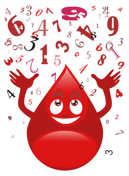 Blood-drop-and-numbers