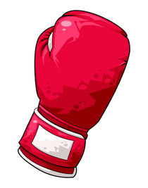 Red boxing glove von William Rossin