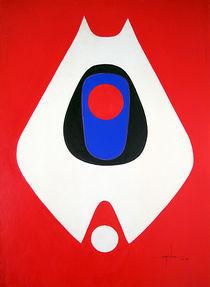 LL1964NY001 White Form 26 x 36 von alfredo Da Silva
