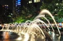 Columbus Circle Lights and Waterworks von travisfeldmanphotography