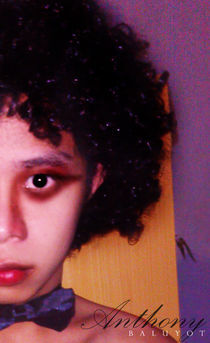 Half Faced Afro Man by Anthony Baluyot