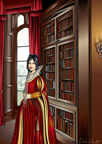 Library Lady von Dhella Rouat