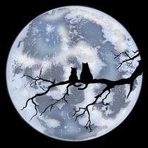 October Moon Cats  by Arif Farzalijev