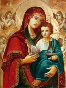 Saint Mary with Jesus von Apostolescu  Sorin