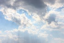 sun breaking through the clouds by Nadine Amende
