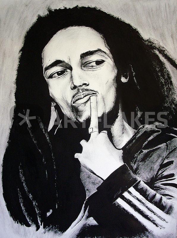 Bob Marley Ink Portrait Finish By Alcom312 D3r4chm