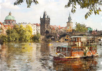 Prague boat by esoteric-vision