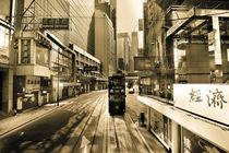 Hongkong tram lane von Martin Handy