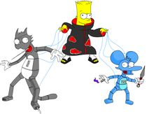Bart simpson Akatsuki by David  Fernandes