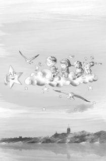 Kids on clouds von Yusuf Tansu  Ozel