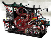 China Town Machinery Landscape von Song Hee Lee